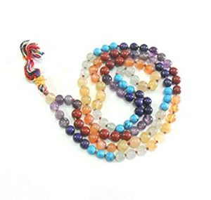 7 Chakra Jap Mala Rosary Prayers 108 Bead Necklace CrystalShopIndia Review