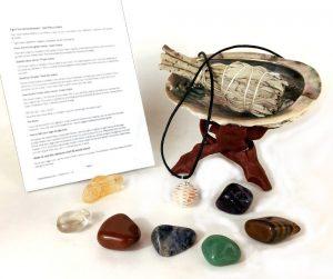 Chakra Stone Set Crystals Sage Abalone Shell Wood Stand Smudge Gift Kit Chakra Palace Review