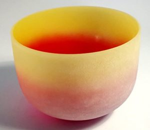 CVNC Rainbow Coloured E Note Solar Plexus Chakra Frosted Quartz Crystal Singing Bowl 10 Inch: CVNC Review