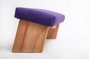 Folding Meditation Bench with Angled Legs by Ananda Woodworking Review