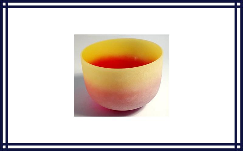 CVNC Rainbow Coloured E Note Solar Plexus Chakra Frosted Quartz Crystal Singing Bowl 10 Inch Cvnc Review