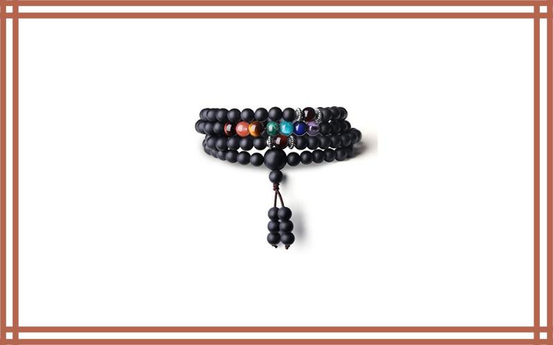Buddhist Prayer 108 Mala Beads Matte Onyx 7 Chakra Review