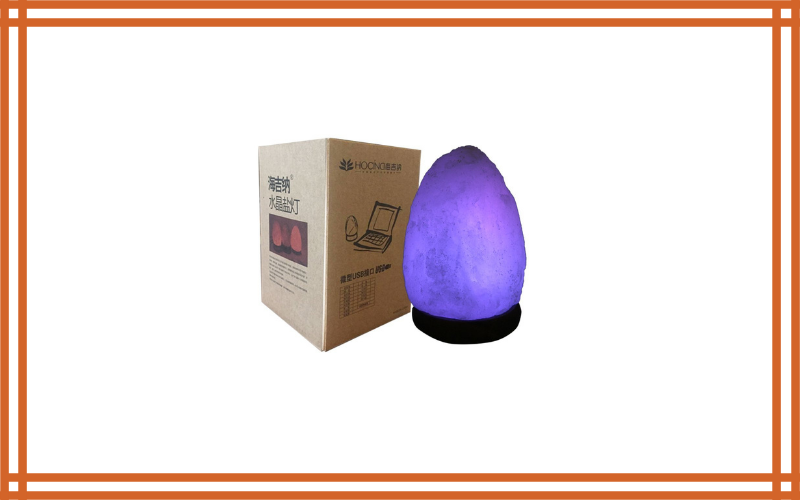 Hocina Natural Himalayan Rock Salt Mini Lamp Multi Color Change With Wood Base, Usb Powered & Led (Bulbs Included) Review