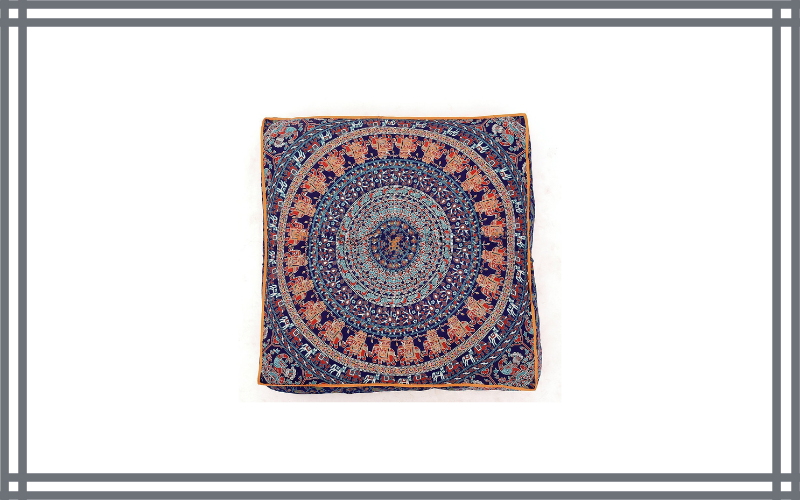 Large Indian Meditation Floor Pillow By Krati Exports Review