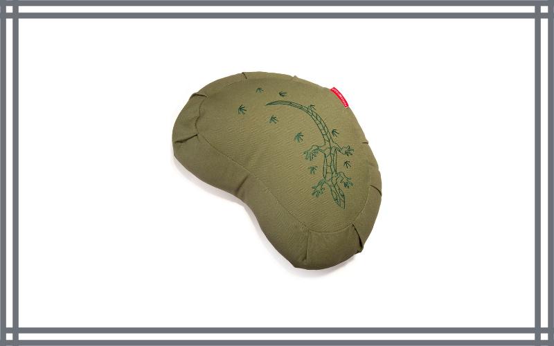Peace Yoga Zafu Meditation Buckwheat Filled Crescent Cotton Bolster Pillow Cushion By Peace Yoga Review