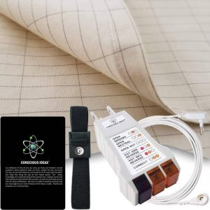 Armshield Earthing Half Sheet Grounding Kit Connection Cord USA Tester Bedding 400TC Pure Silver Thread Conductive Earth Mat Therapy EMF Protection 95% Organic Cotton for Better Sleep Review
