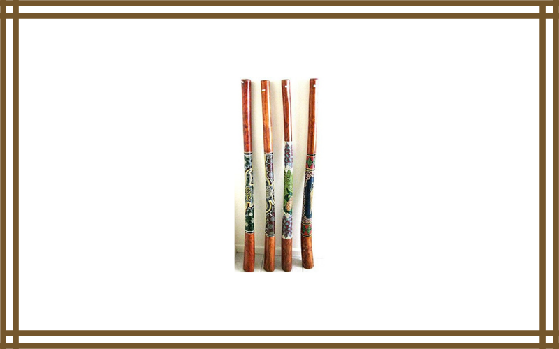 Didgeridoo Hand Painted Teak Wood Professional Sound Xlarge Size 52″ Jive Brand Review