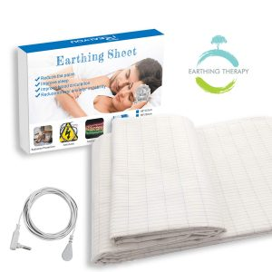 Earthing Sheet Half Size with Grounding Cord, Grounding Conductive Mat with Pure Silver Threads for Better Sleep, Reduce Pain, EMF Protection Review