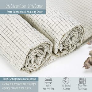 Grounding Sheets for Earthing Half Sheet 6% Pure Silver Fiber Earthing Bed Sheet Review