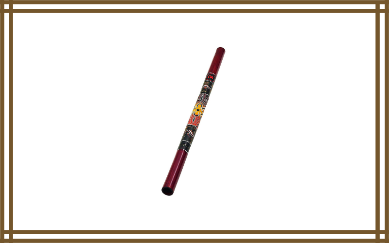 Meinl Didgeridoo 47″ Bamboo Shell In Red With Hand Painted Native Design Review