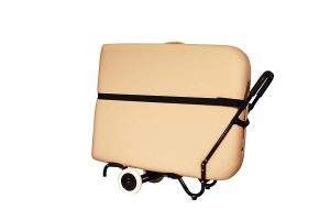 Sporty Massage Table Cart by NRG – Portable Massage Table Carrier Trolley with Rubber Wheels, Telescoping Handle and Strap Review