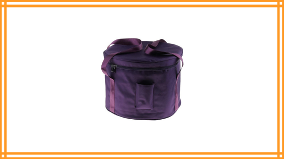 Almencla Cotton Carrying Case Padded Travelling Bag Purple for Crystal Singing Bowl Parts Review