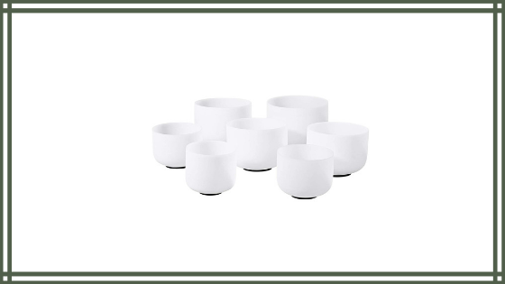CVNC 440HZ 6-12 Inch Set of 7 PCS Frosted Quartz Crystal Singing Bowl Sound Therapy Meditation Review