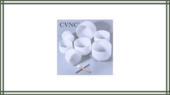 CVNC 8-14 Inch Set of 7 PCS Frosted Quartz Crystal Singing Bowl Sound Healing Instrument Review