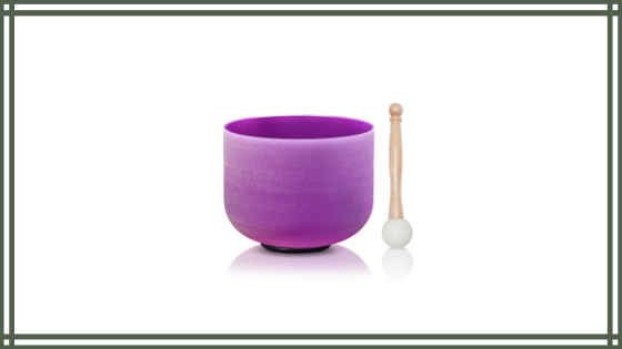 CVNC 8 Inch Purple Color B Note Crown Frosted Quartz Crystal Singing Bowl Review