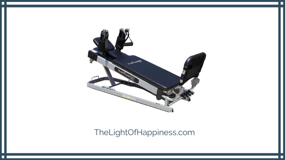 Pilates Power Gym Pro 3-Elevation Mini Reformer Exercise System with 3 Pilates Workout DVDs and The Power Flex Cardio Rebounder Review