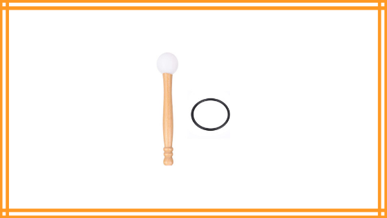Singing Bowl Mallet & O-ring, Rubber Head Wood Handle Mallet Stick Rubber O-ring for Playing Crystal Singing Bowl Review