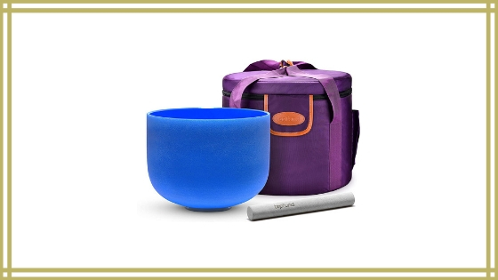 TOPFUND Blue G Note Crystal Singing Bowl Throat Chakra 8 inch Review