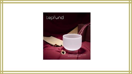 TOPFUND C Note Crystal Singing Bowl Root Chakra 10 inch Review