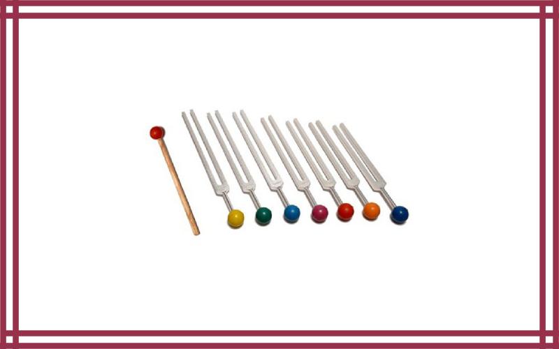 7 Chakra Tuning Fork Set by Tuningforkshop