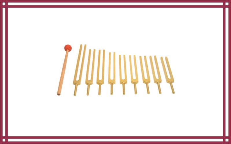 Nine Chakra Tuning Fork Set by Tuningforkshop